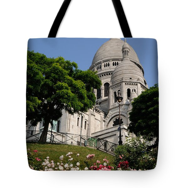 Sacre Coeur Flowers Tote Bag