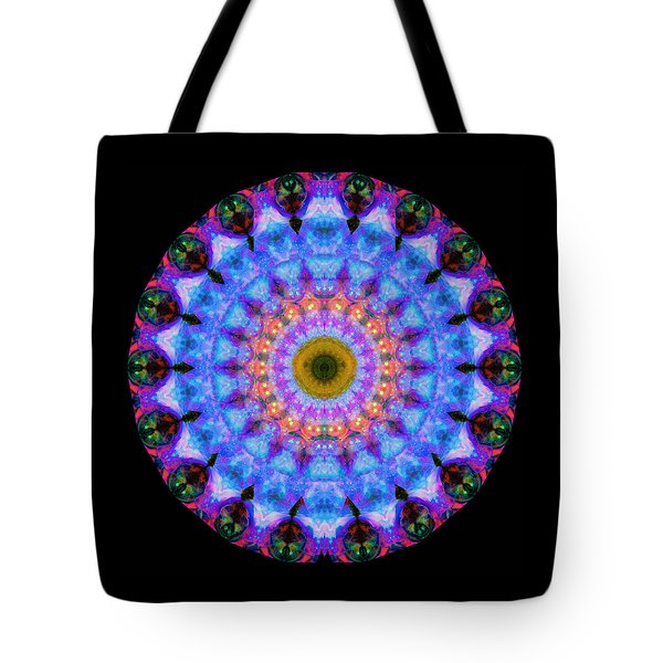 Sacred Crown - Mandala Art By Sharon Cummings Tote Bag by Sharon Cummings