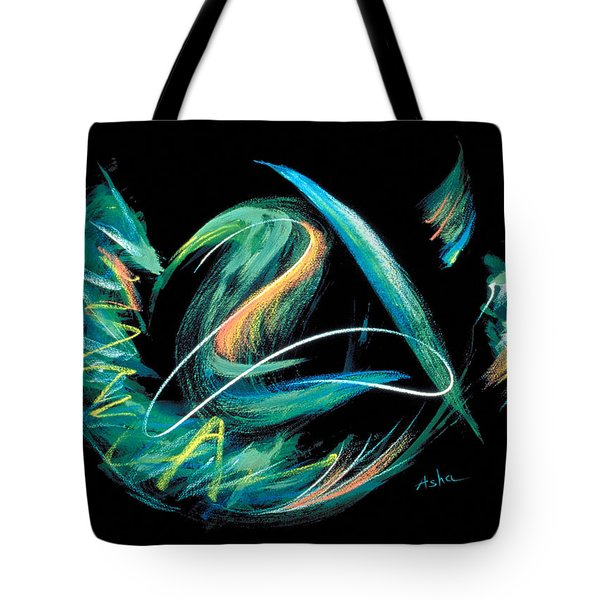 Tote Bag featuring the painting Sacred Feather Dance by Asha Carolyn Young