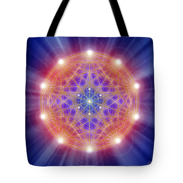 Sacred Geometry 168 Tote Bag by Endre Balogh