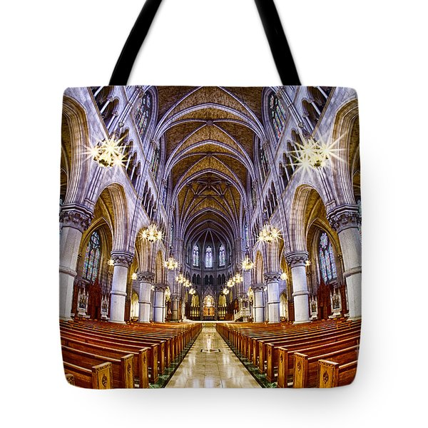Sacred Heart Basilica Tote Bag by Jerry Fornarotto