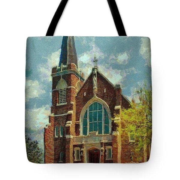 Sacred Heart Tote Bag by Jeff Kolker