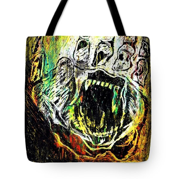 Sacred Paw Impression Tote Bag