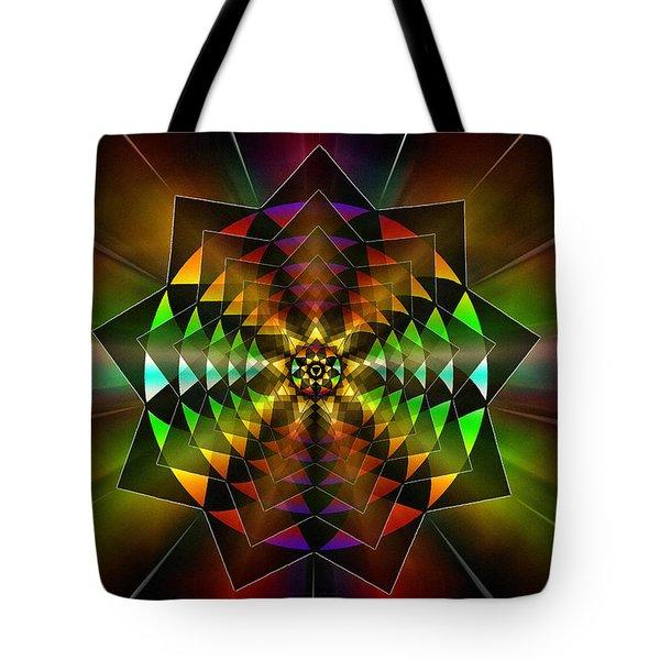Tote Bag featuring the drawing Sacred Power Of Nine by Derek Gedney