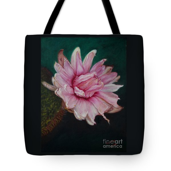 Sacred Red Lotus Tote Bag
