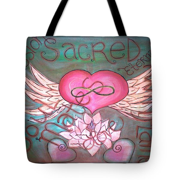 Sacred Soulmates And Twin Flames Tote Bag