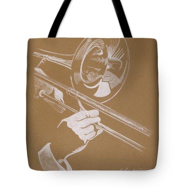 Sacred Trombone Tote Bag