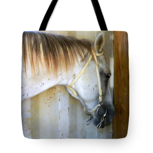 Tote Bag featuring the photograph Saddle Break by Kathy Barney