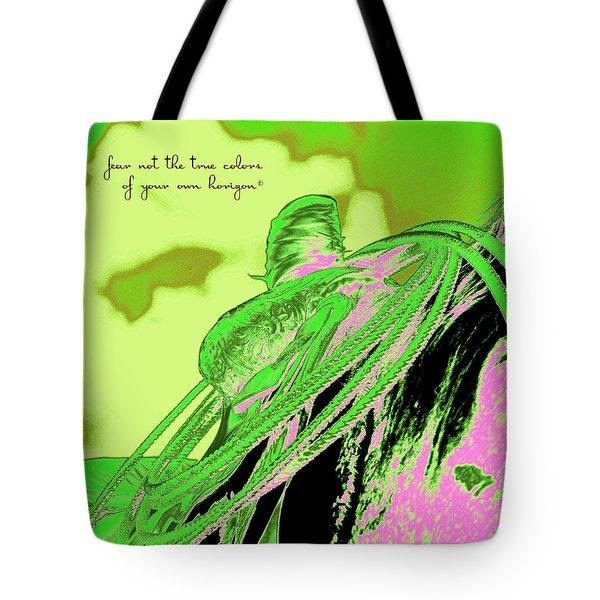Saddle Electric Pink Tote Bag