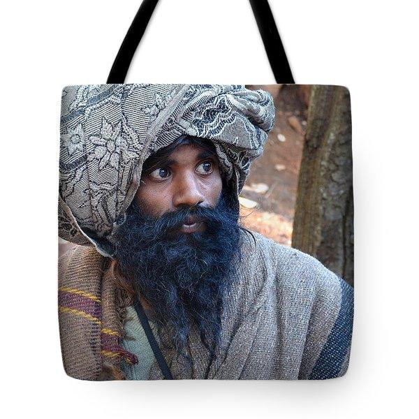 Sadhu At Amarkantak India Tote Bag