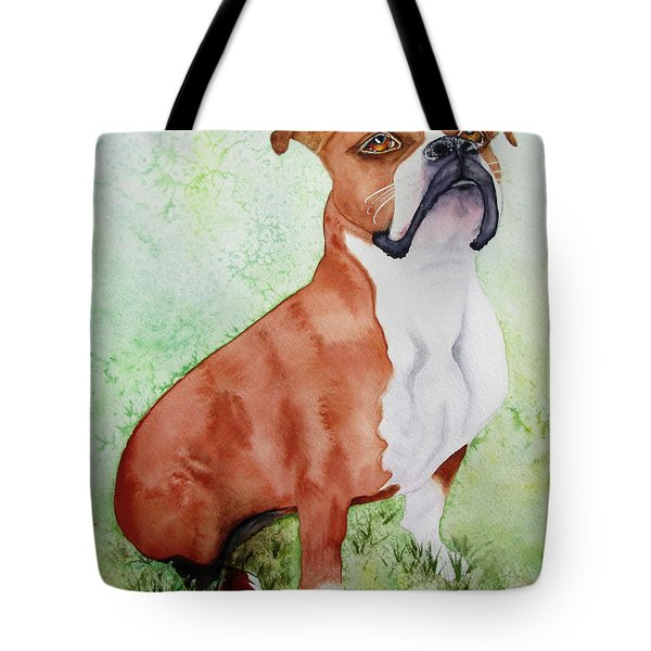Tote Bag featuring the painting Sadie by Diane DeSavoy