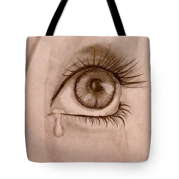 Sadness In The Eye Tote Bag