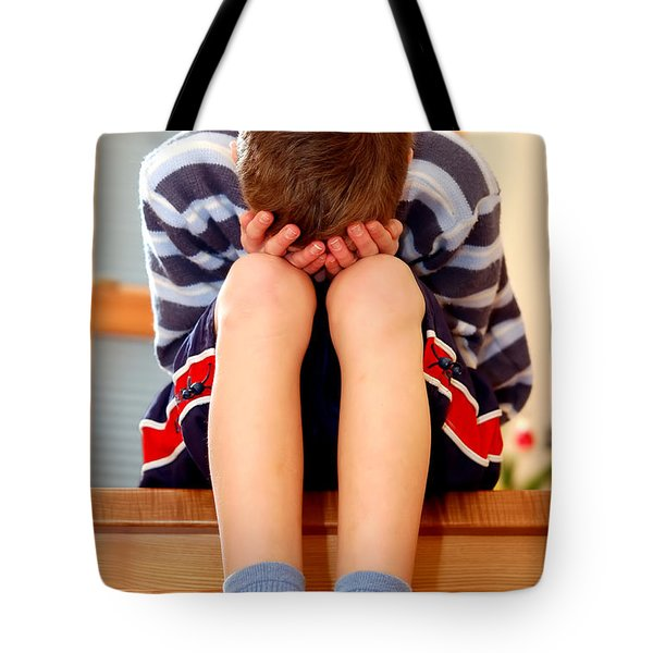 Sadness Tote Bag by Michal Bednarek