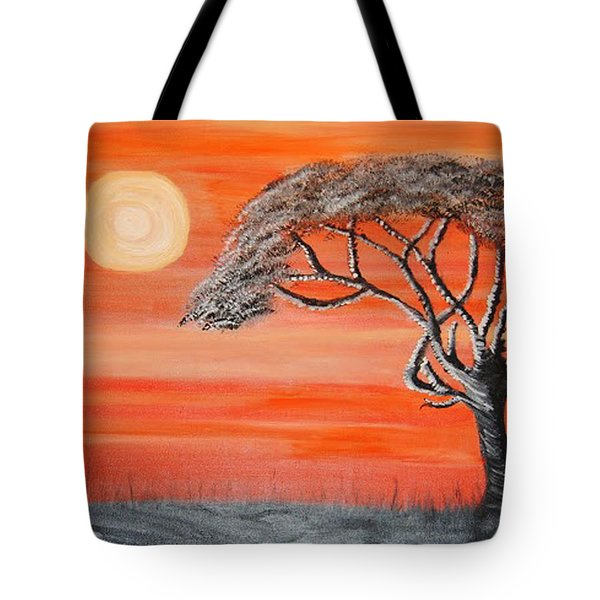 Safari Sunset 2 Tote Bag