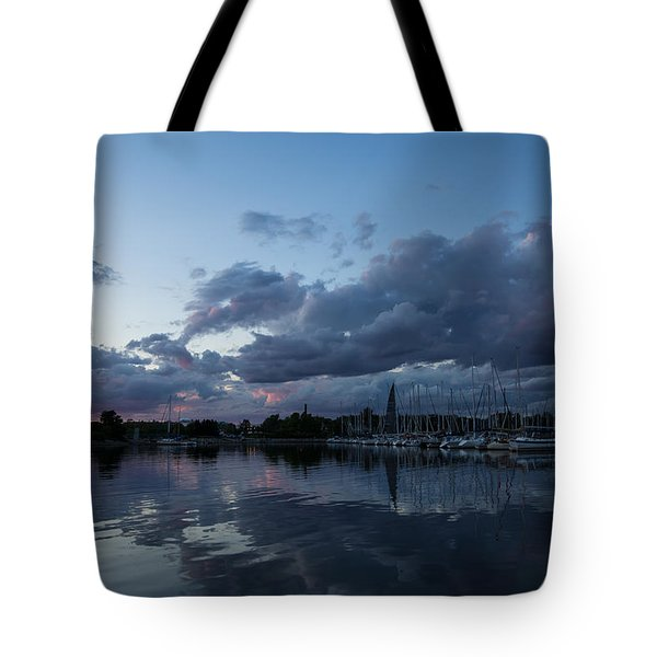 Safe Harbor After The Storm Tote Bag by Georgia Mizuleva