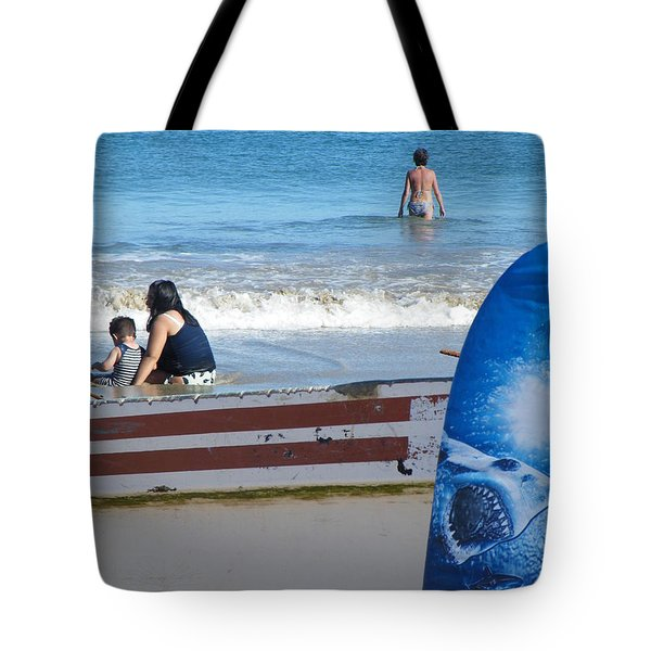 Tote Bag featuring the photograph Safe To Go In The Water by Brian Boyle