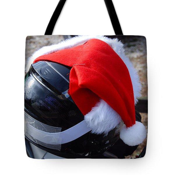 Safety First Santa Tote Bag