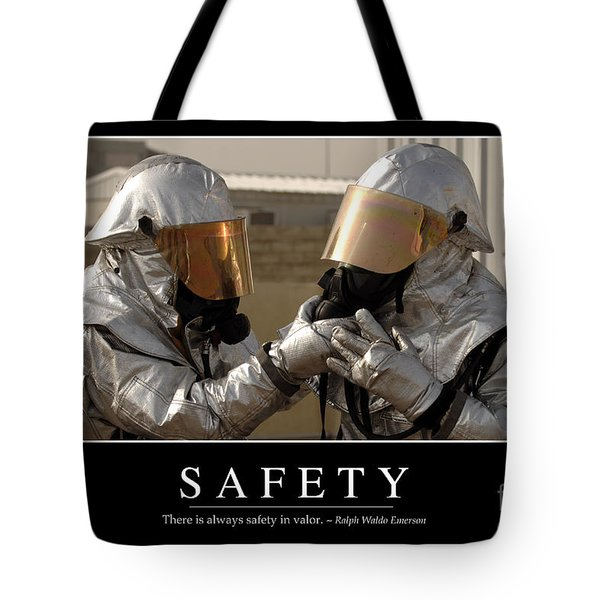 Safety Inspirational Quote Tote Bag by Stocktrek Images