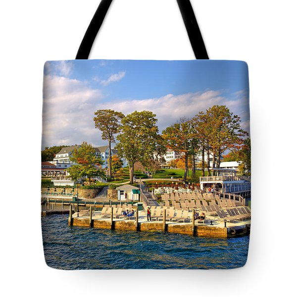 Sagamore Hotel - Lake George Tote Bag by David Patterson
