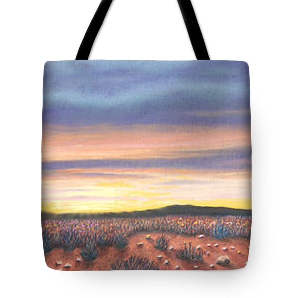 Sagebrush Sunset Triptych Tote Bag