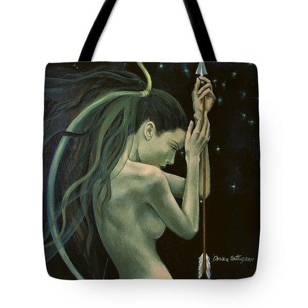 Sagittarius From Zodiac Series Tote Bag by Dorina  Costras