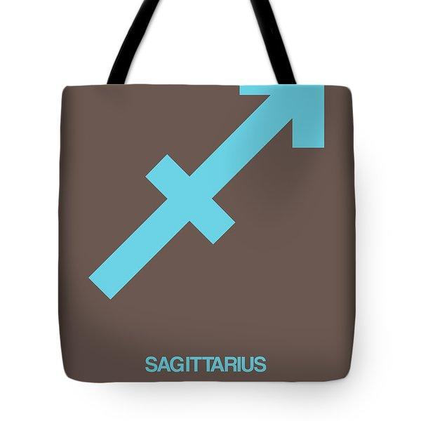 Sagittarius Zodiac Sign Blue Tote Bag