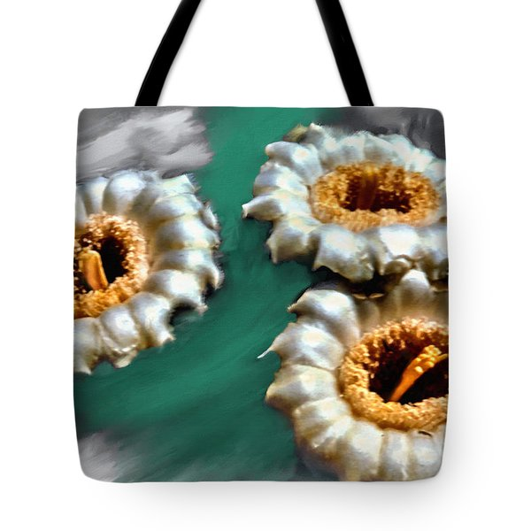 Saguaro Cactus Blossoms Tote Bag by Bob and Nadine Johnston