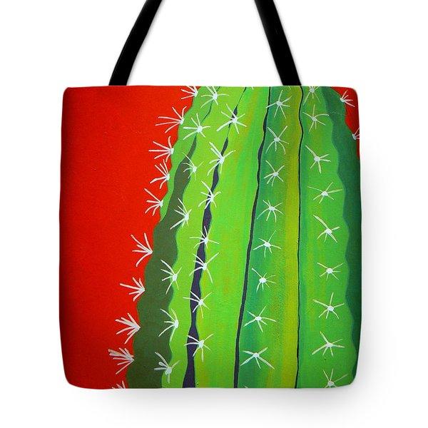 Saguaro Cactus Tote Bag by Karyn Robinson
