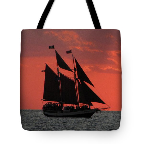 Key West Sunset Sail 5 Tote Bag