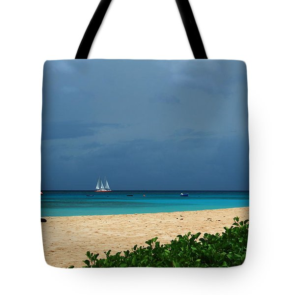 Sail Away Tote Bag by Catie Canetti