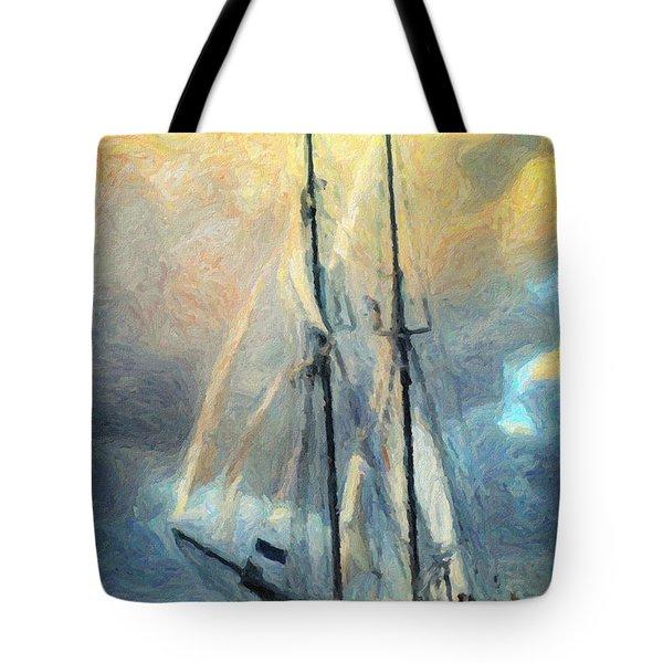 Sail Away To Avalon Tote Bag by Taylan Apukovska