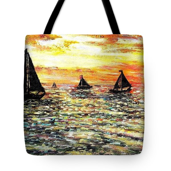 Tote Bag featuring the painting Sail Away With Me by Shana Rowe Jackson