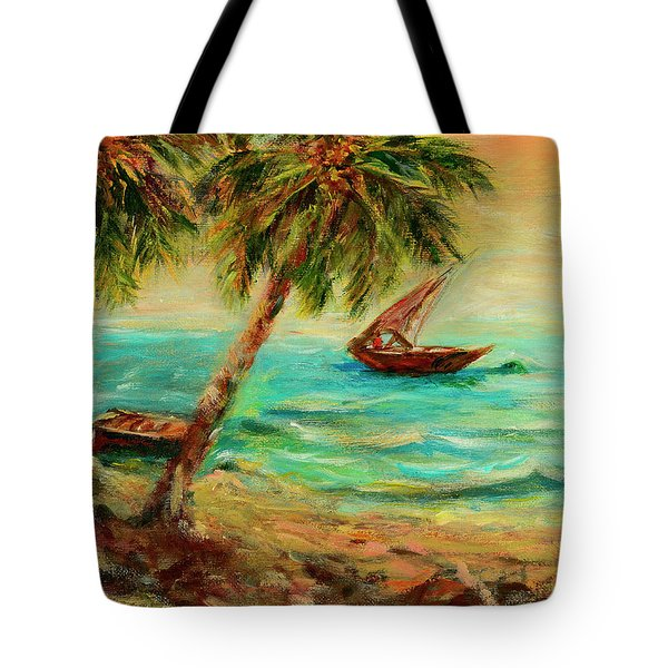 Sail Boats On Indian Ocean  Tote Bag