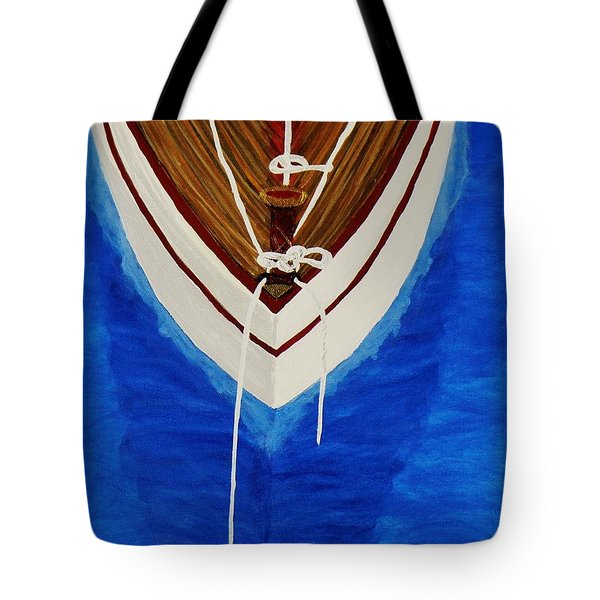 Tote Bag featuring the painting Sail On by Celeste Manning