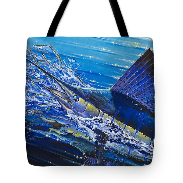Sail On The Reef Off0082 Tote Bag by Carey Chen