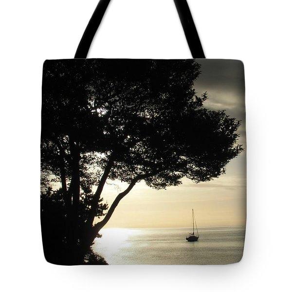 Sailboat At Dawn Tote Bag