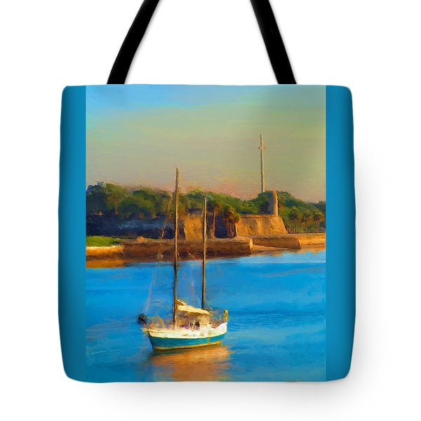 Da147 Sailboat By Daniel Adams Tote Bag
