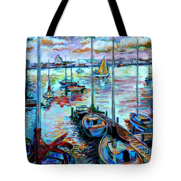 Sailboat Harbor Tote Bag