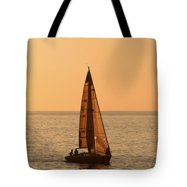 Sailboat In Hawaii Tote Bag by Kim Hojnacki