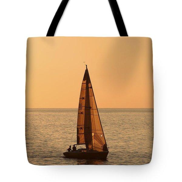 Sailboat In Hawaii Tote Bag