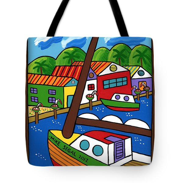 Sailboat In The Window Tote Bag