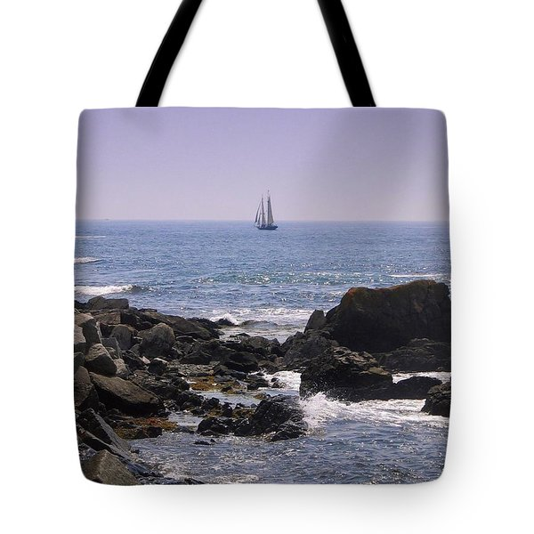 Sailboat - Maine Tote Bag by Photographic Arts And Design Studio