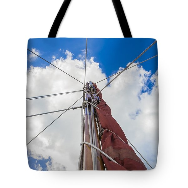 Tote Bag featuring the photograph Sailboat Mast 1 by Leigh Anne Meeks