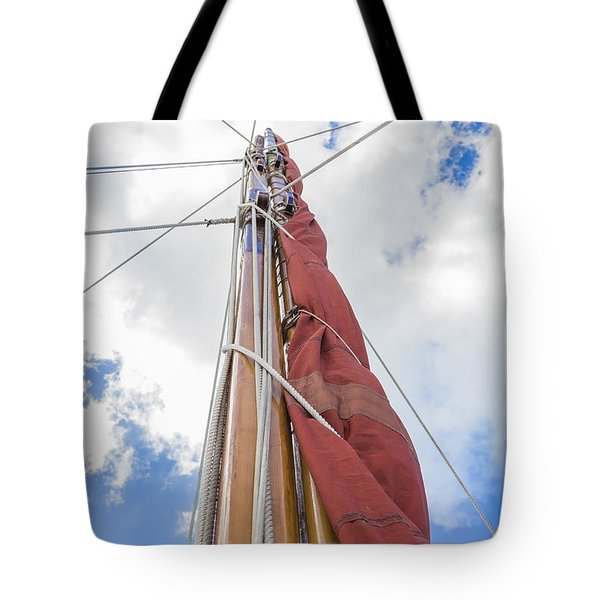 Tote Bag featuring the photograph Sailboat Mast 2 by Leigh Anne Meeks