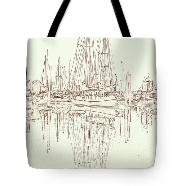 Tote Bag featuring the photograph Sailboat On Liberty Bay by Greg Reed