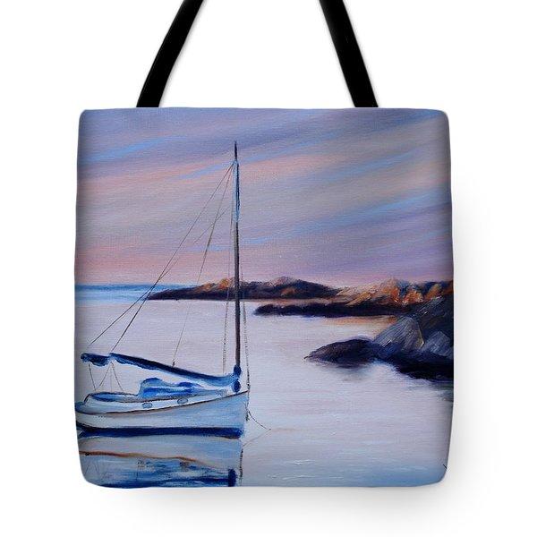 Sailboat Reflections I Tote Bag by Donna Tuten