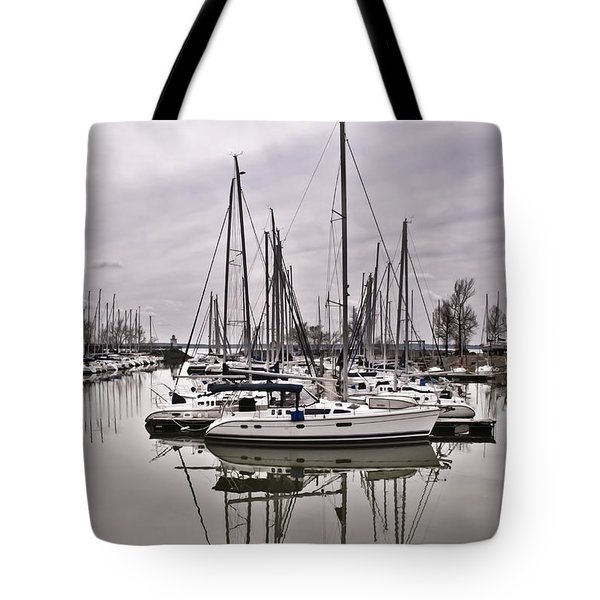 Tote Bag featuring the photograph Sailboat Row by Greg Jackson