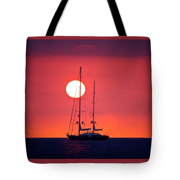 Sailboat Sunset Tote Bag by Venetia Featherstone-Witty