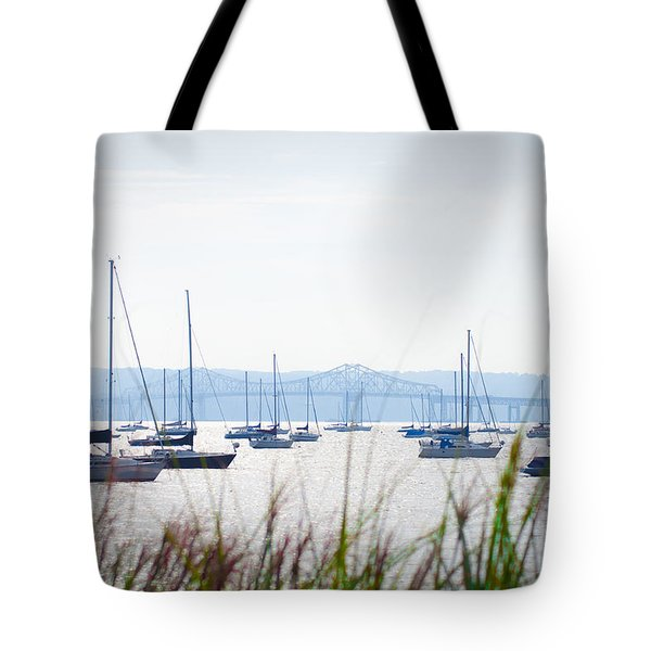 Sailboats At Rest Tote Bag by Bill Cannon