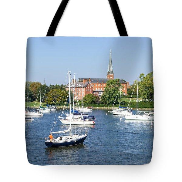 Sailboats By Charles Carroll House Tote Bag